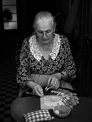 Bobbins Photograph - A Lacemaker In Bruges by RicardMN Photography