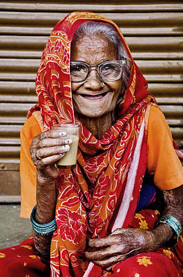 Photograph - A Lady And Her Chai II by Valerie Rosen