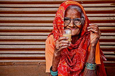 Photograph - A Lady And Her Chai by Valerie Rosen
