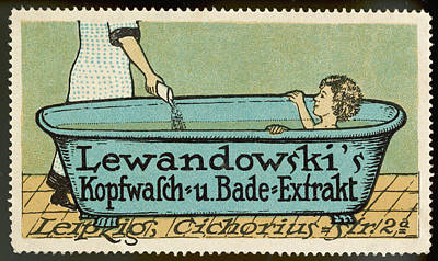Lewandowski Wall Art - Drawing - A Lady Is In Her Bath When Her Maid by Mary Evans Picture Library