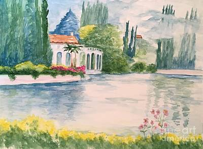A Lake In Tuscany Art Print