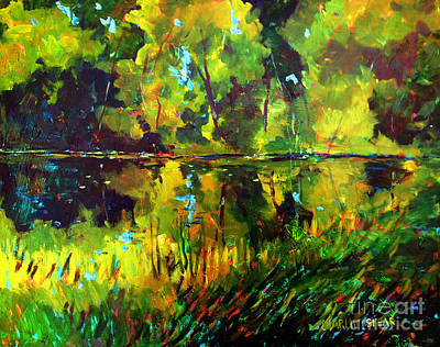 Tim Painting - A Lake Like A Hammock Sold by Charlie Spear