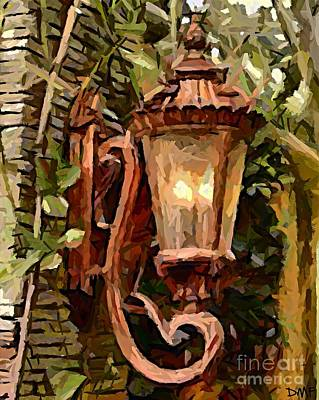 Garden Mixed Media - A Lamp At The Entrance by Dragica  Micki Fortuna