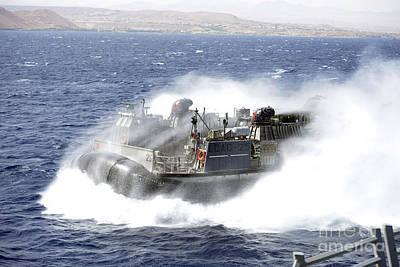 Aqaba Photograph - A Landing Craft Air Cushion Conducts by Stocktrek Images