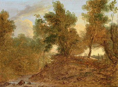 Barker Painting - A Landscape At Wick, Gloucestershire, Below The Rocks by Litz Collection