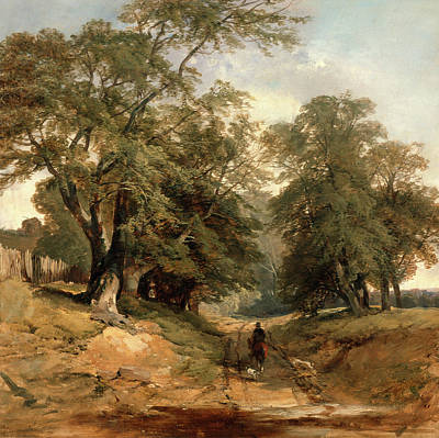 Middleton Painting - A Landscape With A Horseman, John Middleton by Litz Collection
