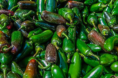 Photograph - A Large Group Of Pretty Jalapeno Peppers by Alex Grichenko