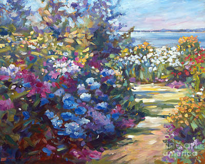 Pathway Painting - A Lazy Summer Day by David Lloyd Glover