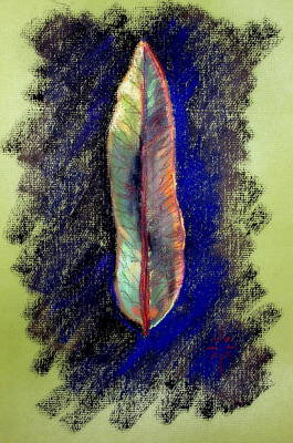 Painting - A Leaf by Jodie Marie Anne Richardson Traugott          aka jm-ART