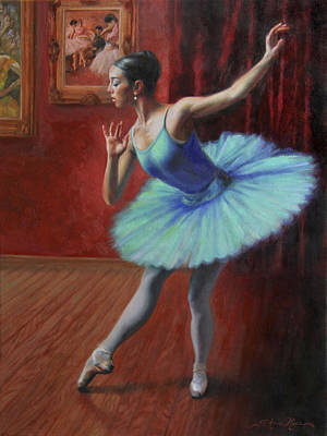 Ballerina Artwork Painting - A Legacy Of Elegance by Anna Rose Bain