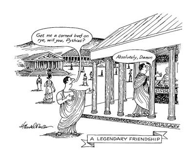 A Legendary Friendship Art Print by J.B. Handelsman