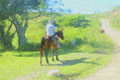 Digital Art - A Leisurely Ride by Diane Macdonald