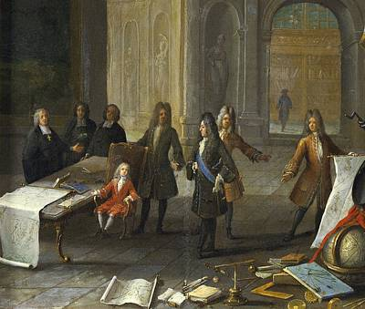 Louis Xv Photograph - A Lesson Being Given To The Young Louis by Everett