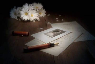 Stationary Photograph - A Letter From Mary Still Life by Tom Mc Nemar