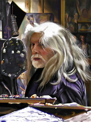 Digital Art - A Life Of Colour - Robert Lenkiewicz -1941 - 2002 by Nigel Follett