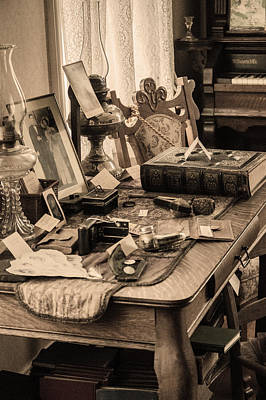 A Life Time At A Desk Original by Don Kerr