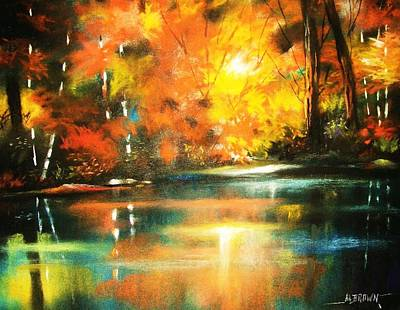 Painting - A Light In The Forest by Al Brown