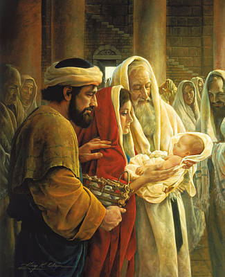 Annas Painting - A Light To The Gentiles by Greg Olsen