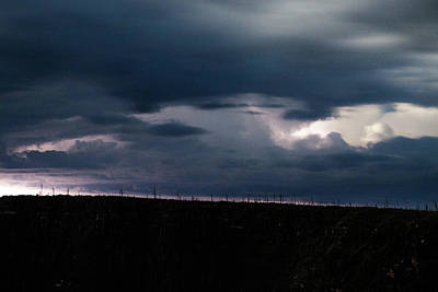 Clouds Over Canyon Photograph - A Lighting Storm On The Rim by Ben Horton
