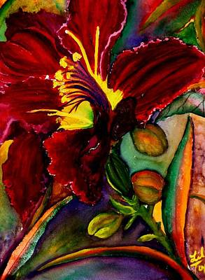 Painting - A Lily A Day by Lil Taylor