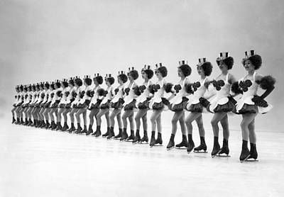 Full Skirt Photograph - A Lineup Of Glamour-icers by Underwood Archives