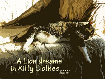 Photograph - A Lion Dreams.... by Jacqueline  DiAnne Wasson