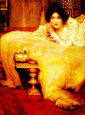 Listener Painting - A Listener By Sir Lawrence Alma Tadema by MotionAge Designs