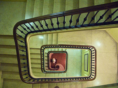 Photograph - A Literary Staircase 2 by Cornelis Verwaal