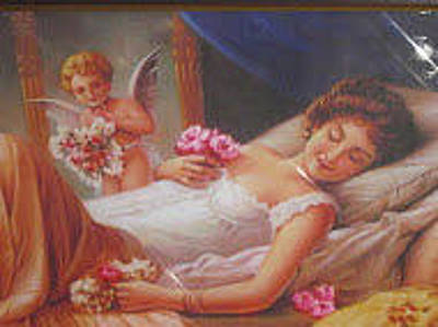 Angels Breath Painting - Little Angel Dreaming by Satish L