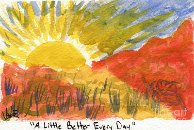 Painting - A Little Better Every Day by Victor Vosen