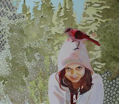 A Little Birdie Told Me Art Print by Sandrine Pelissier
