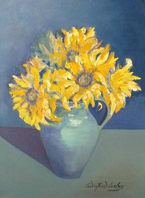 Painting - A Little Bit Of Sunshine  by Winifred Lesley