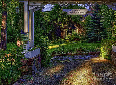 Cabin Window Digital Art - A Little Cottage In The Woods by Nancy Marie Ricketts