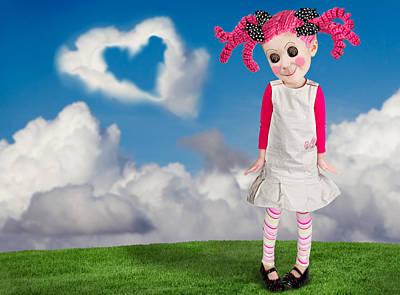 Freakish Photograph - A Little Girl That Looks Like A Doll by Jennifer Huls