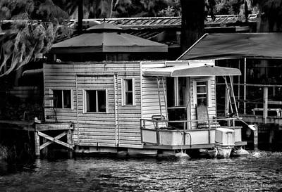 Photograph - A Little Home On The Water - Bw by Christopher Holmes
