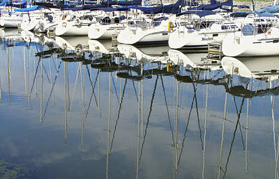 Photograph - A Little Mischief - Sailboats And Their Reflections by Jane Eleanor Nicholas