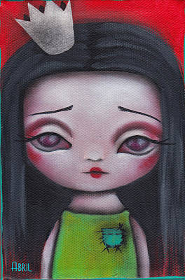 Pop Surrealism Painting - A Little Princess by Abril Andrade Griffith