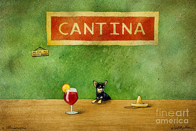 a little Sangria... Print by Will Bullas