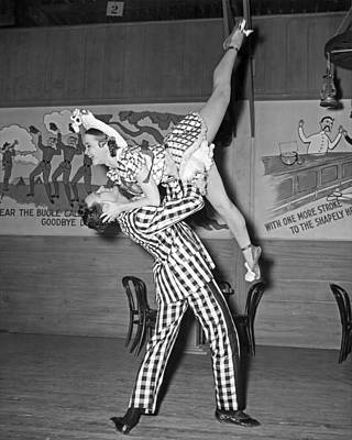 Modern Dance Photograph - A Lively Dance Performance by Underwood Archives