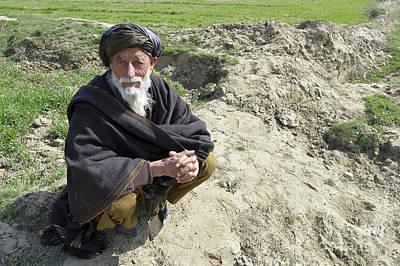 A Local Afghan Man Near A Village Print by Stocktrek Images