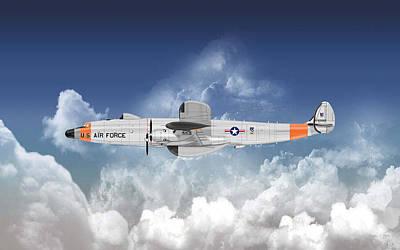 Digital Art - A Lockheed Ec-121h Super Constellation by Arthur Eggers