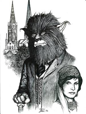 Beauty And The Beast Drawing - A Lone Wolf In Coventry by Jamie Jonas