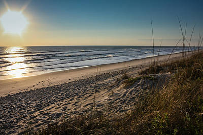 Photograph - A Lonely Beach At Sunrise by Anthony Doudt