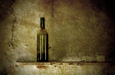 A Lonely Bottle Art Print