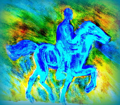 Icelandic Horse Painting - We Had A Long And Windy Journey by Hilde Widerberg