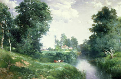 A Long Island River, 1908 Art Print by Thomas Moran