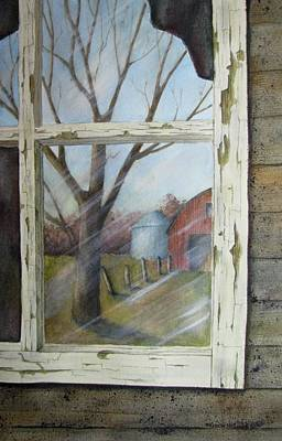 Wall Art - Painting - A Look Back by Linda McCallum