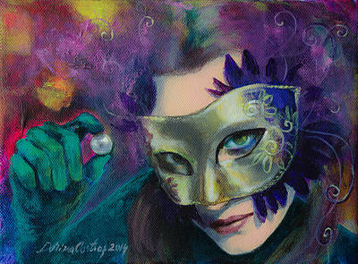 Carnival Wall Art - Painting - A Losing Game by Dorina  Costras