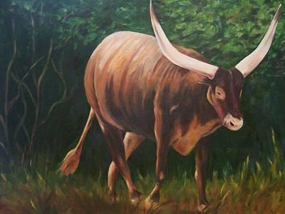 A Lot Of Bull, Watusi  Art Print