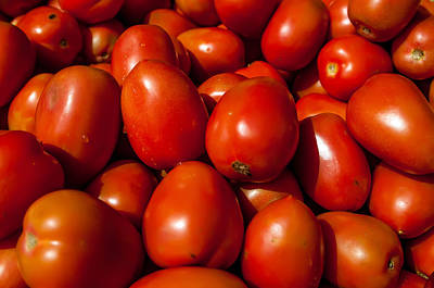 Photograph - A Lot Of Red Tomatoes Background by Alex Grichenko